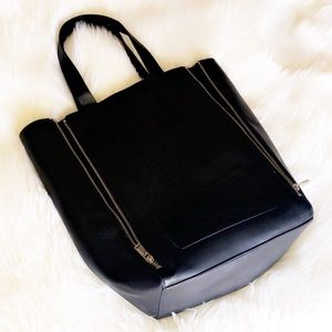 FRENCH CONNECTION Leather Zipper Tote Bag